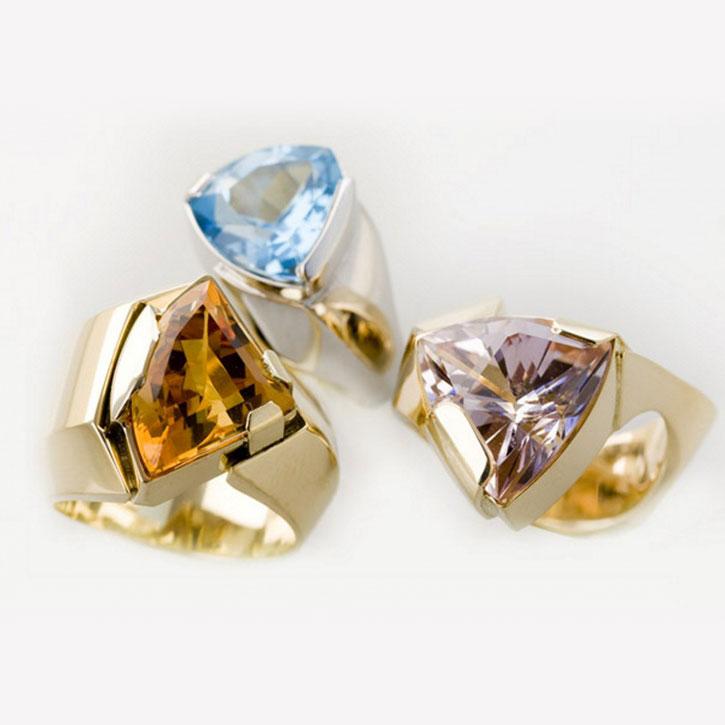 Drie ringen met hanger