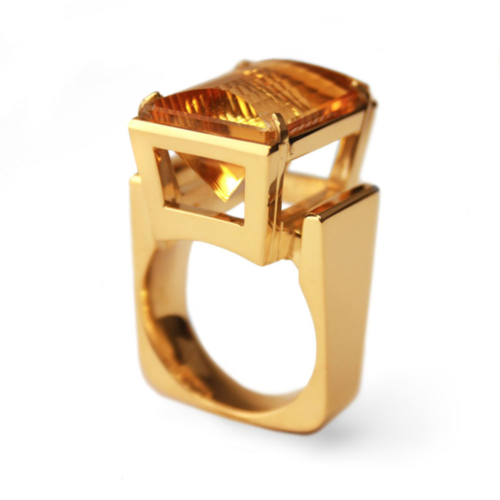 Ring met Citrien steen