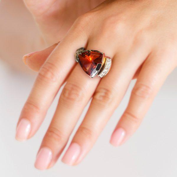 ring met madeira citrien