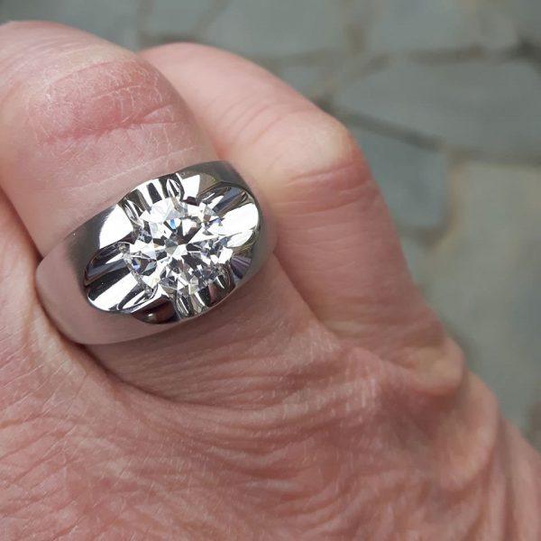 Heren ring met briljant